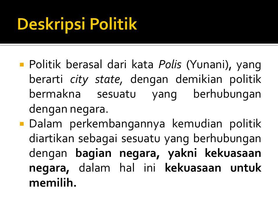 Deskripsi Politik