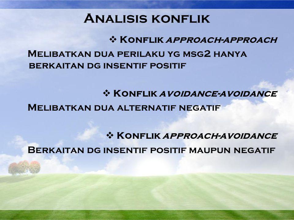 Analisis konflik Konflik approach-approach