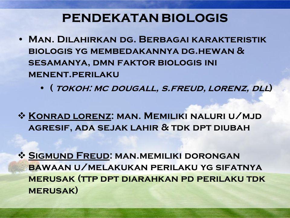 PENDEKATAN BIOLOGIS