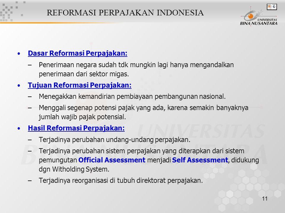 REFORMASI PERPAJAKAN INDONESIA