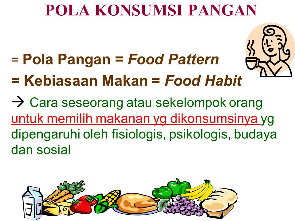 POLA KONSUMSI PANGAN = Kebiasaan Makan = Food Habit