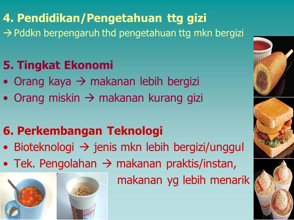4. Pendidikan/Pengetahuan ttg gizi