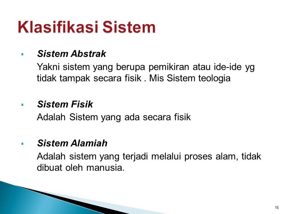 Klasifikasi Sistem Sistem Abstrak