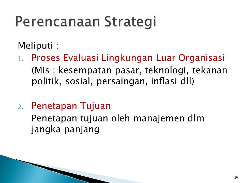 Perencanaan Strategi Meliputi :