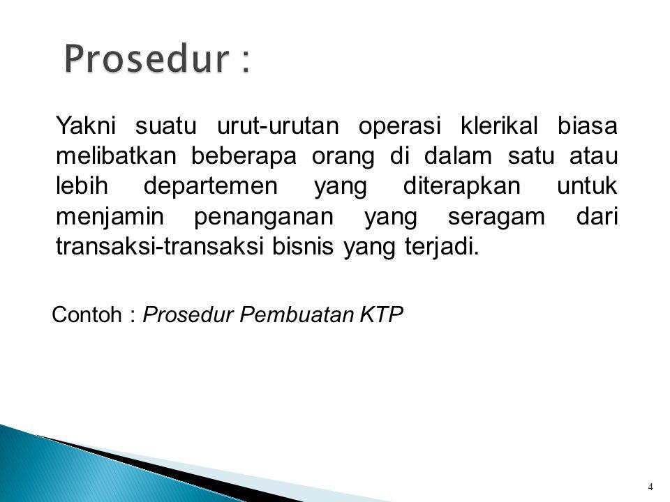 Prosedur :