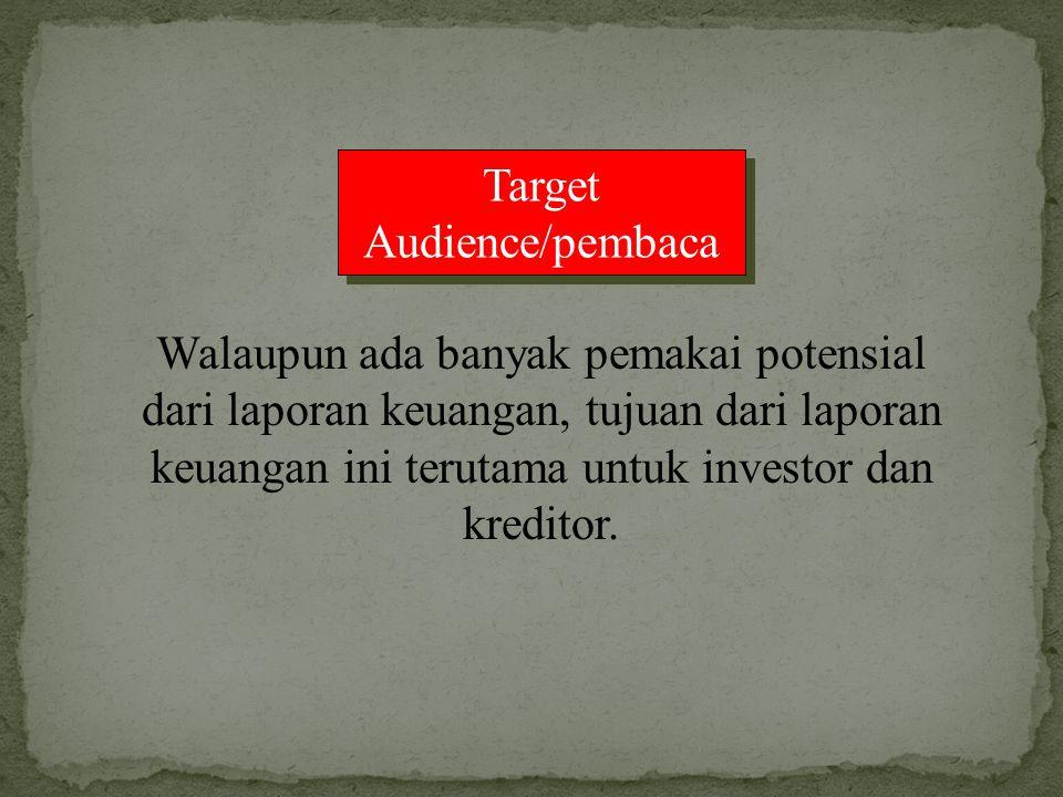 Target Audience/pembaca