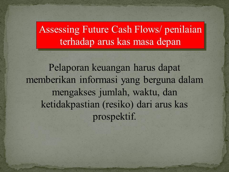 Assessing Future Cash Flows/ penilaian terhadap arus kas masa depan