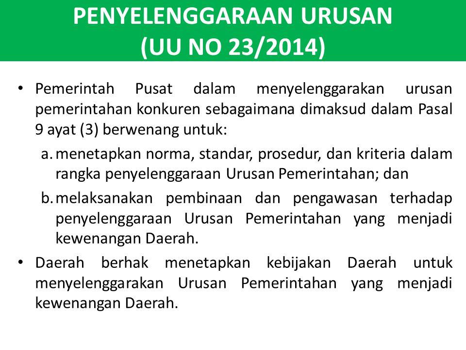 PENYELENGGARAAN URUSAN (UU NO 23/2014)