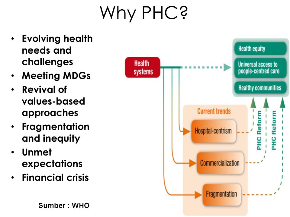 Why PHC Evolving health needs and challenges Meeting MDGs