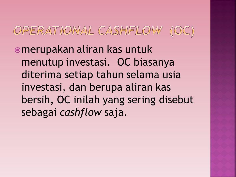 Operational cashflow (OC)