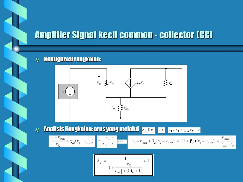 Amplifier Signal kecil common - collector (CC)