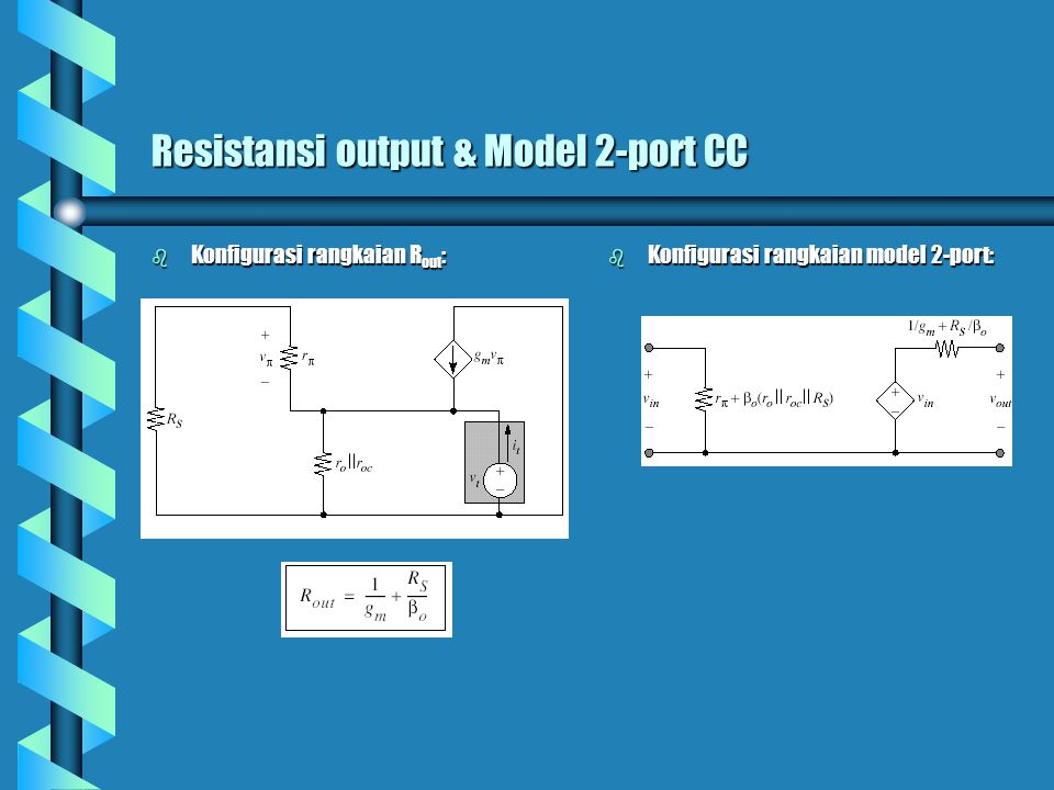 Resistansi output & Model 2-port CC
