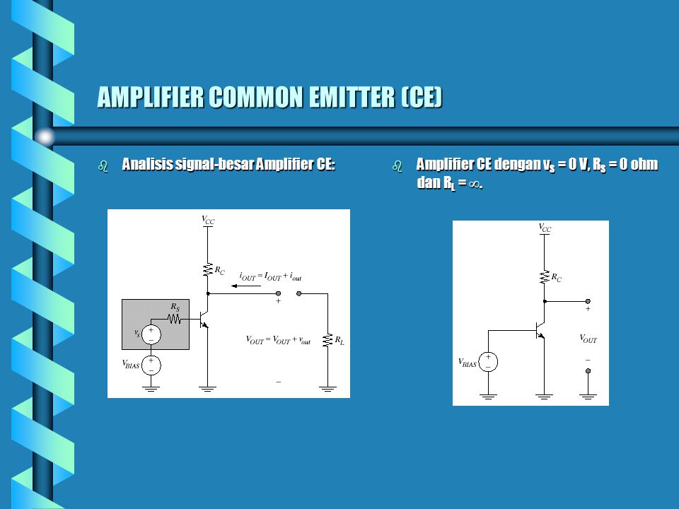 AMPLIFIER COMMON EMITTER (CE)