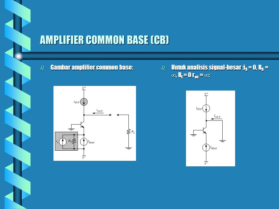 AMPLIFIER COMMON BASE (CB)