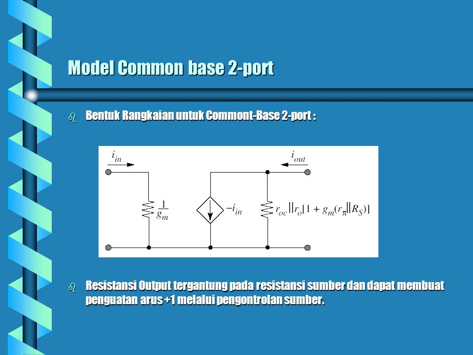 Model Common base 2-port