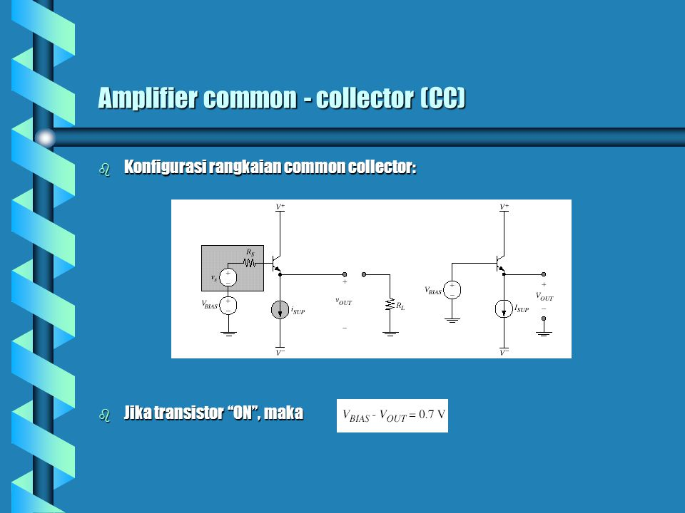 Amplifier common - collector (CC)