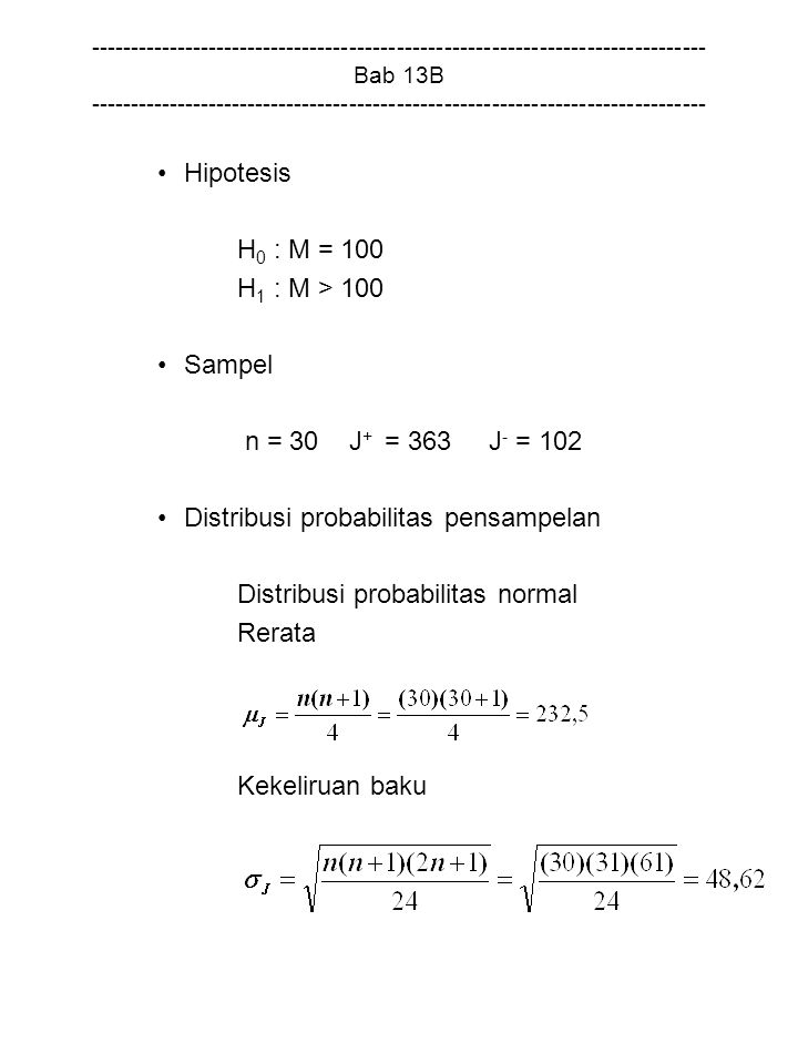 Distribusi probabilitas pensampelan Distribusi probabilitas normal