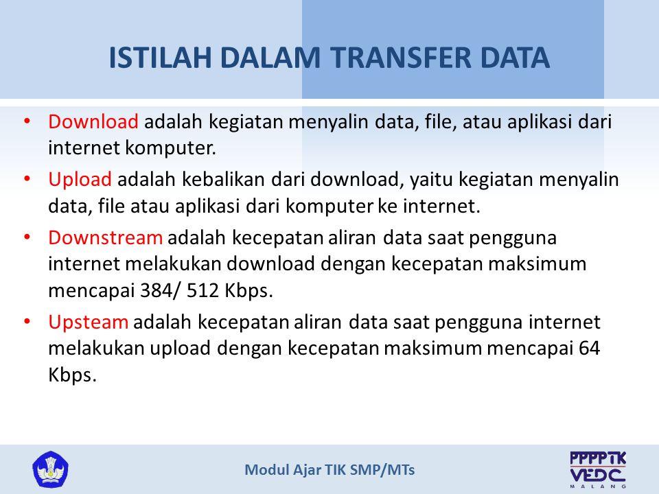 ISTILAH DALAM TRANSFER DATA