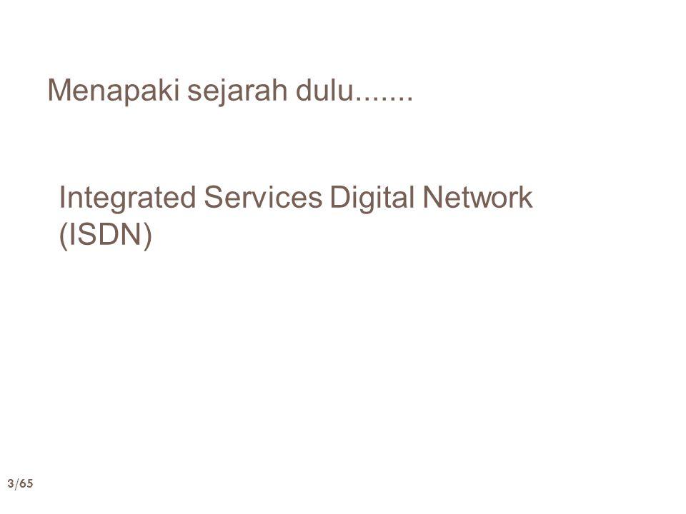Menapaki sejarah dulu....... Integrated Services Digital Network (ISDN)