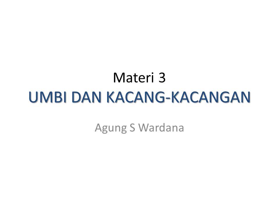 Materi 3 UMBI DAN KACANG-KACANGAN