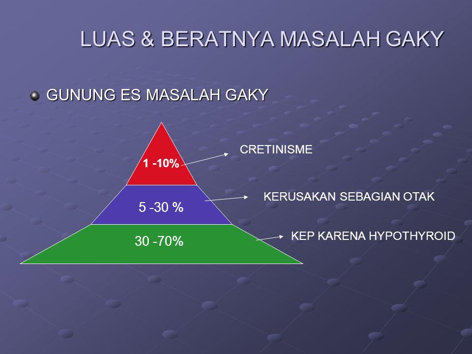 LUAS & BERATNYA MASALAH GAKY