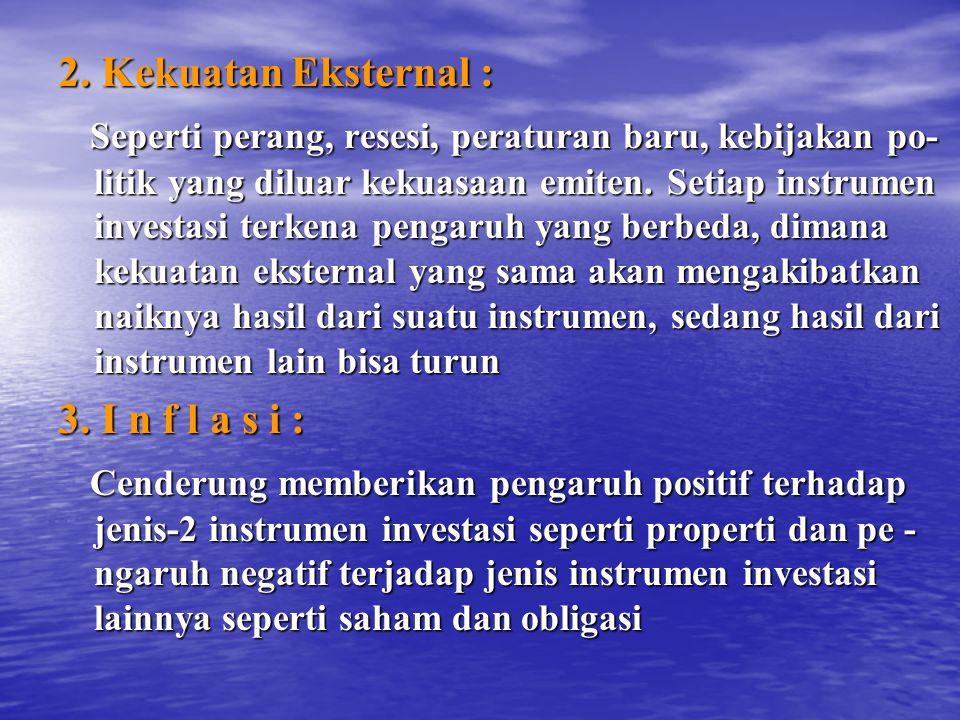 2. Kekuatan Eksternal :