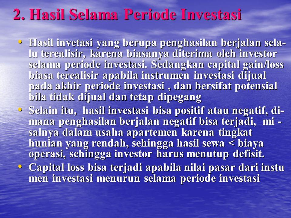 2. Hasil Selama Periode Investasi