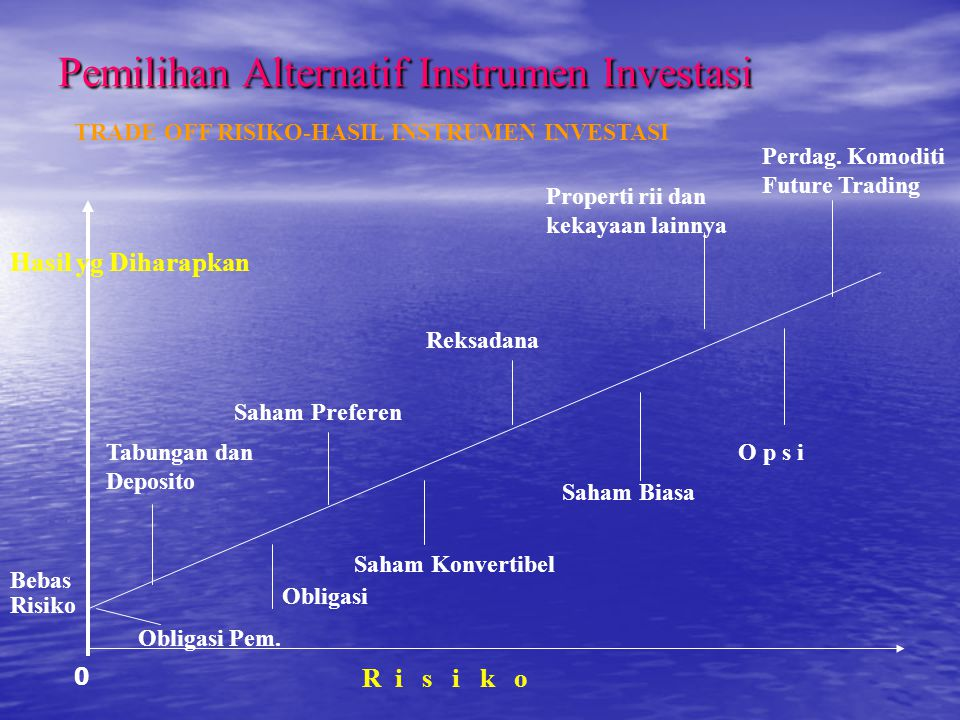 Pemilihan Alternatif Instrumen Investasi