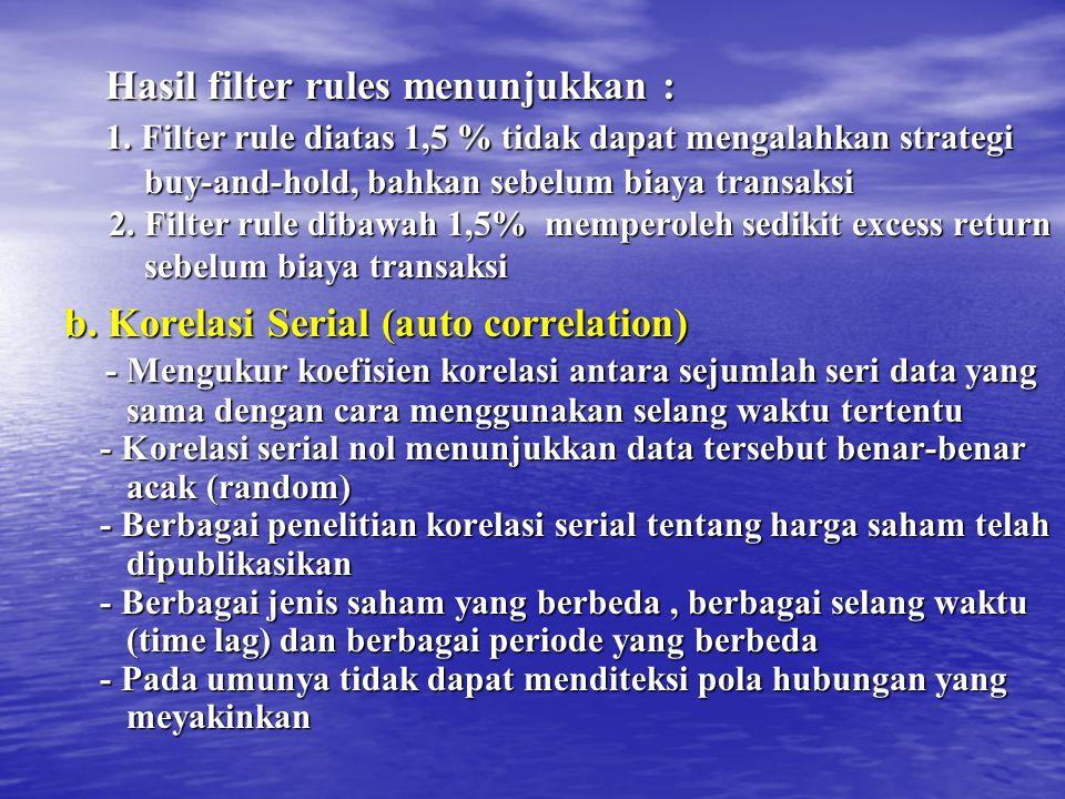 Hasil filter rules menunjukkan :