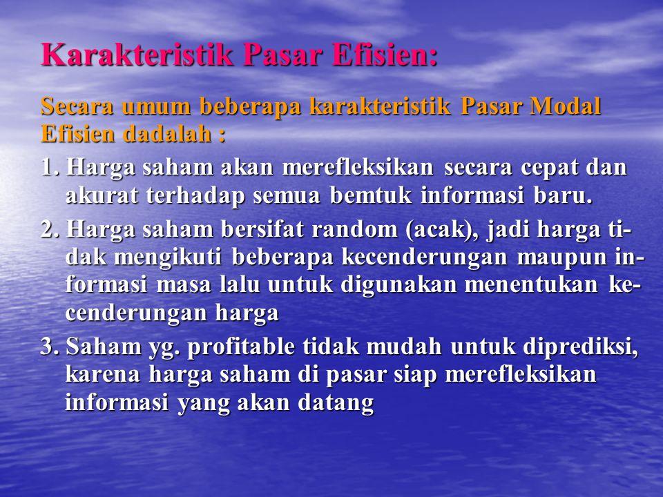 Karakteristik Pasar Efisien: