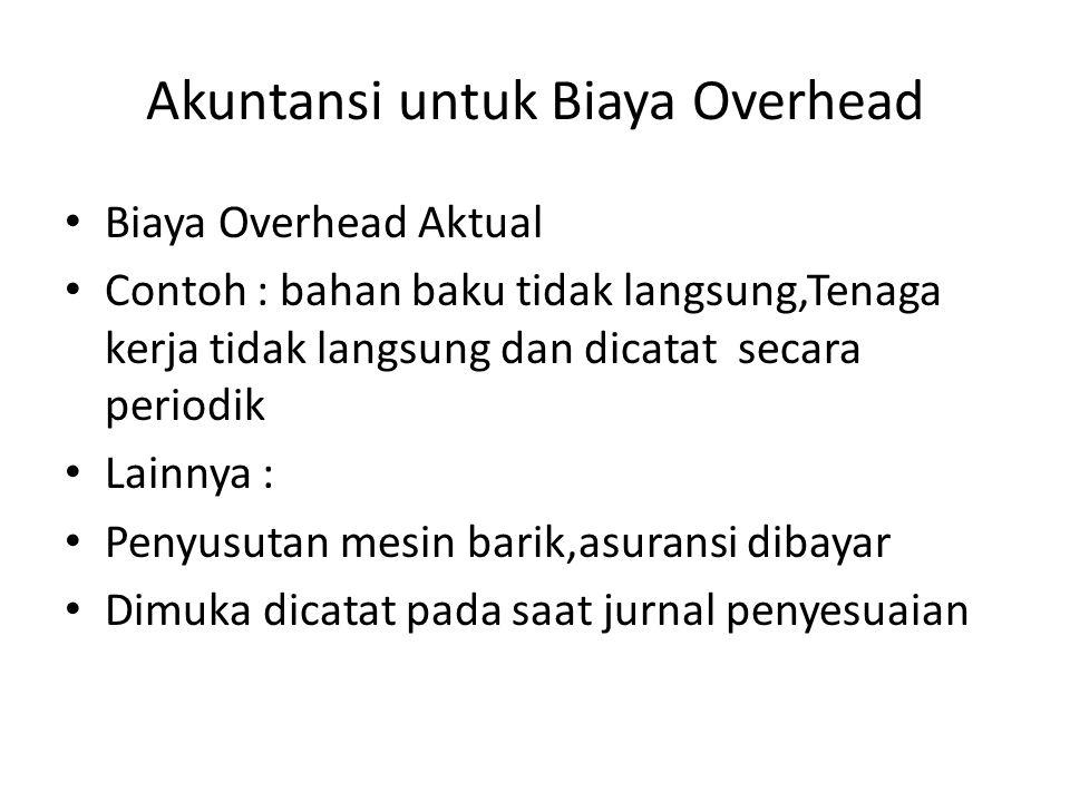 Akuntansi untuk Biaya Overhead