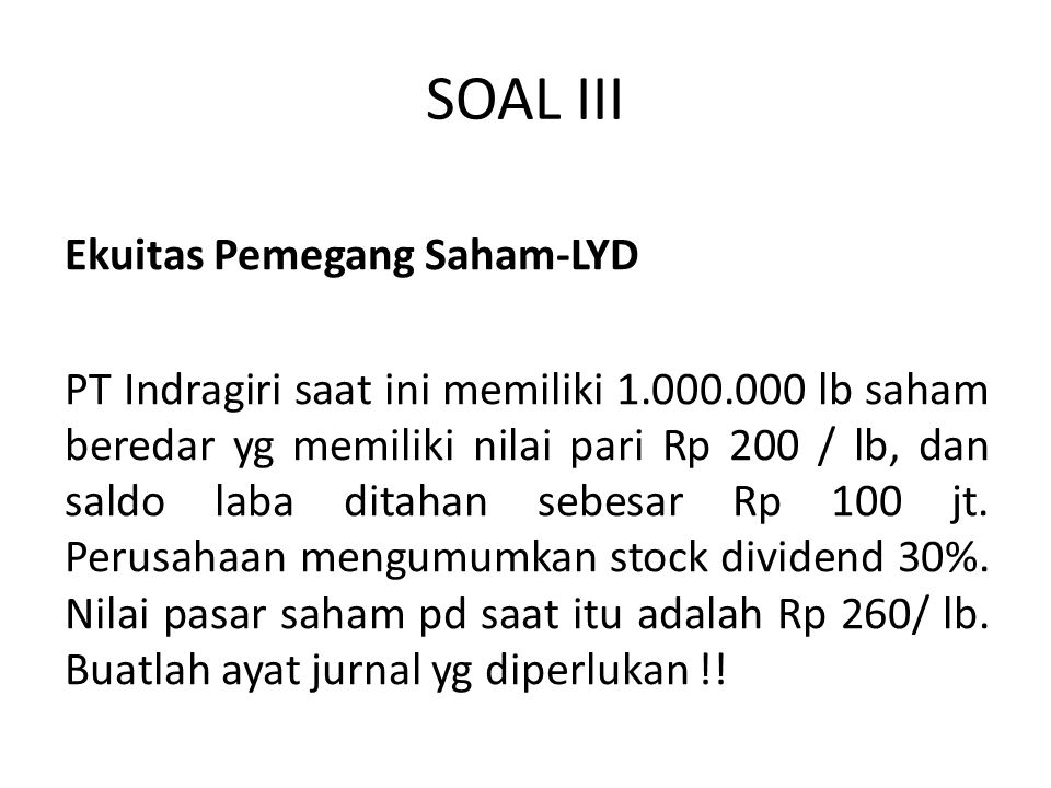 SOAL III