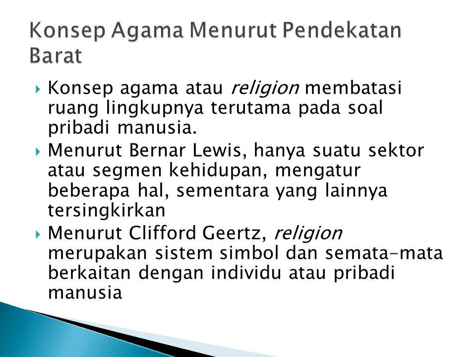 Konsep Agama Menurut Pendekatan Barat