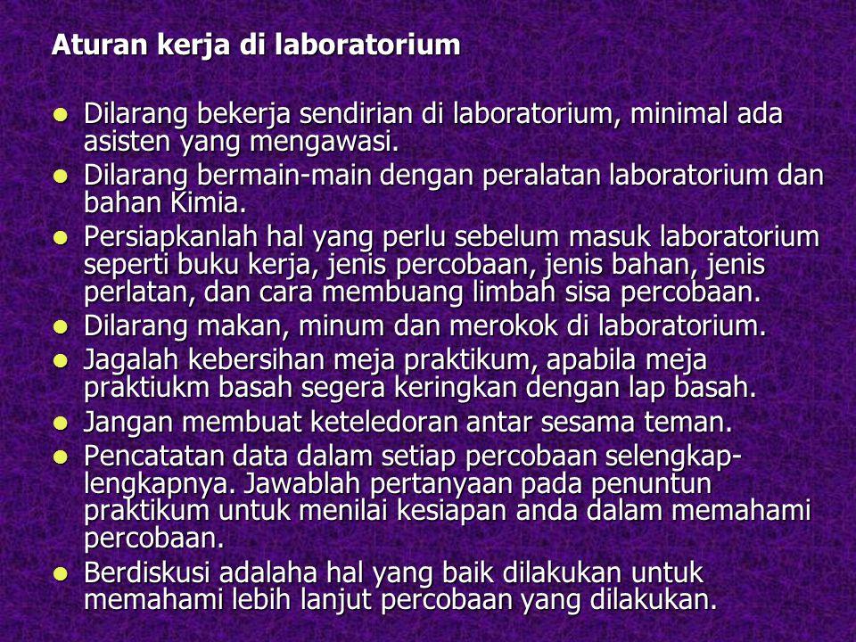Aturan kerja di laboratorium
