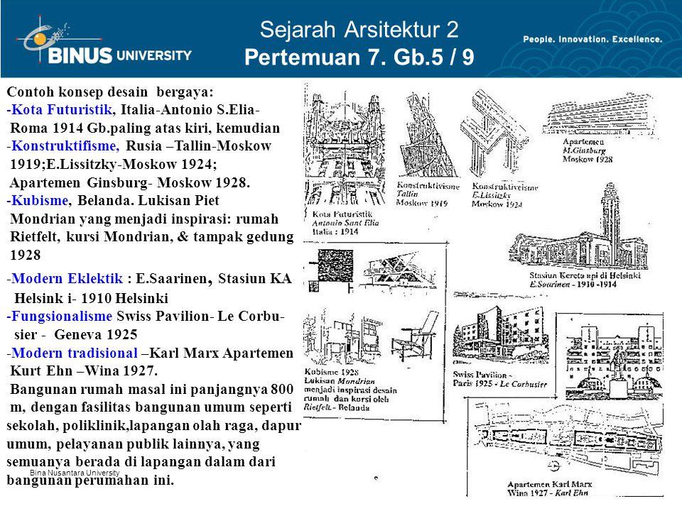 Sejarah Arsitektur 2 Pertemuan 7. Gb.5 / 9
