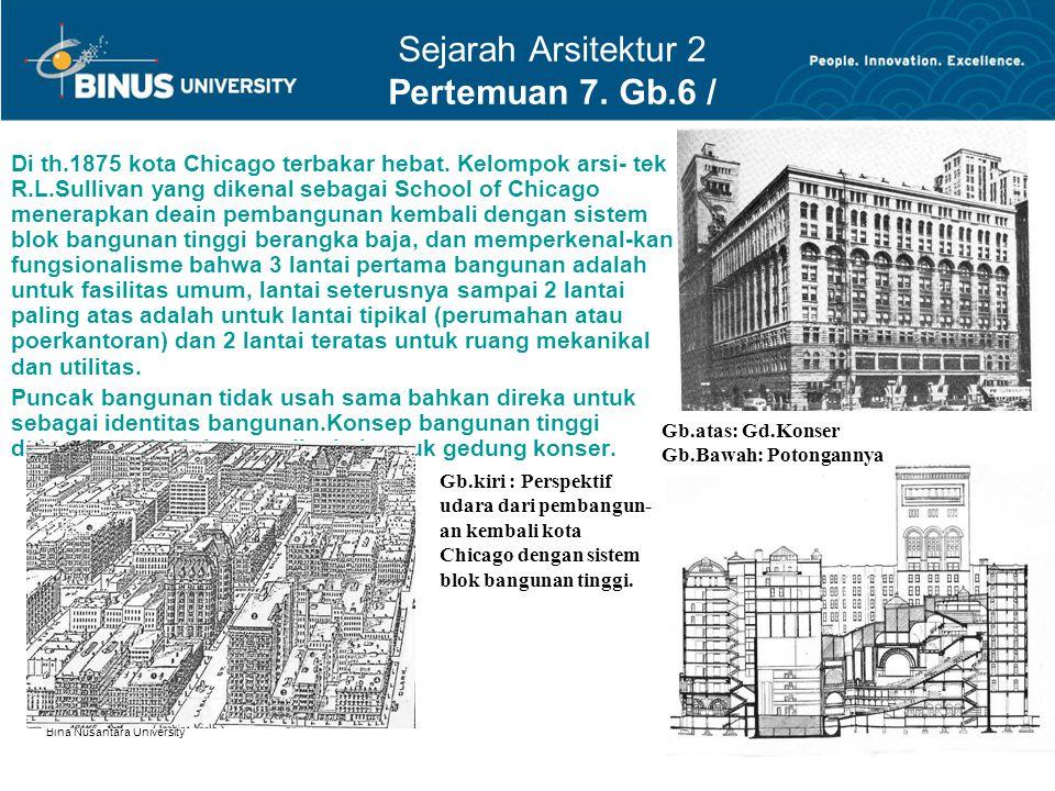 Sejarah Arsitektur 2 Pertemuan 7. Gb.6 / 9