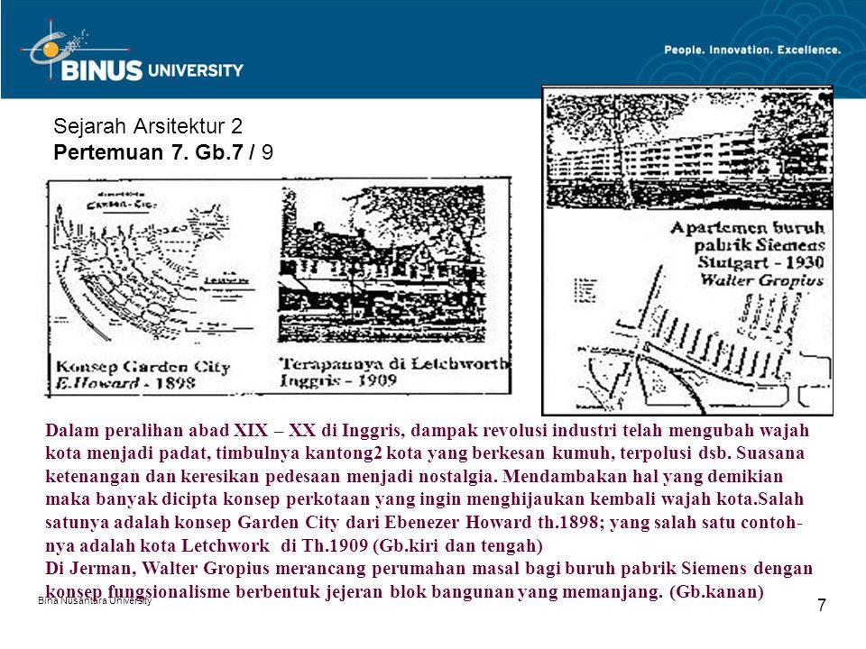 Sejarah Arsitektur 2 Pertemuan 7. Gb.7 / 9