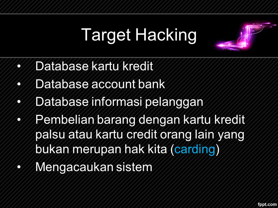 Target Hacking Database kartu kredit Database account bank