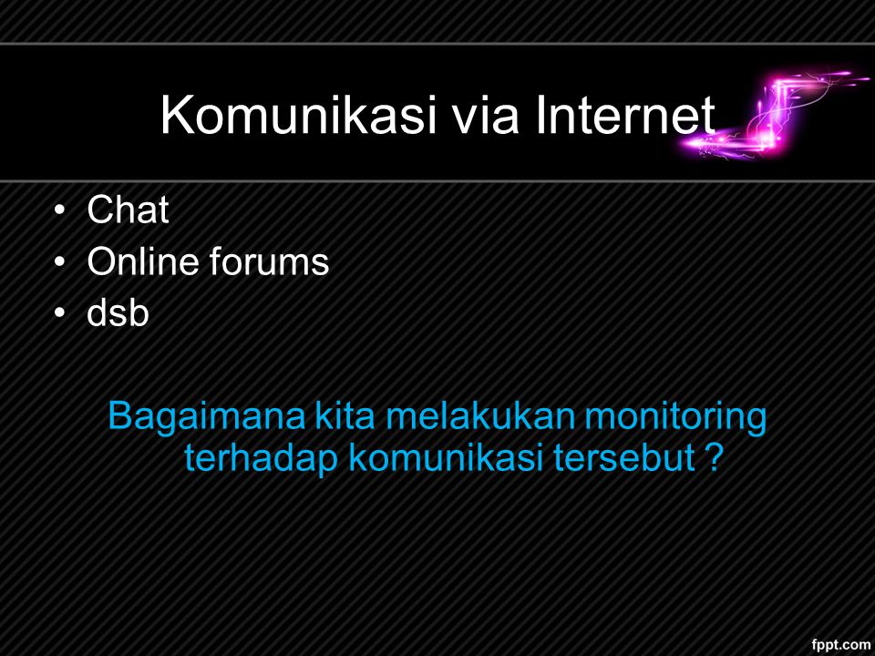 Komunikasi via Internet