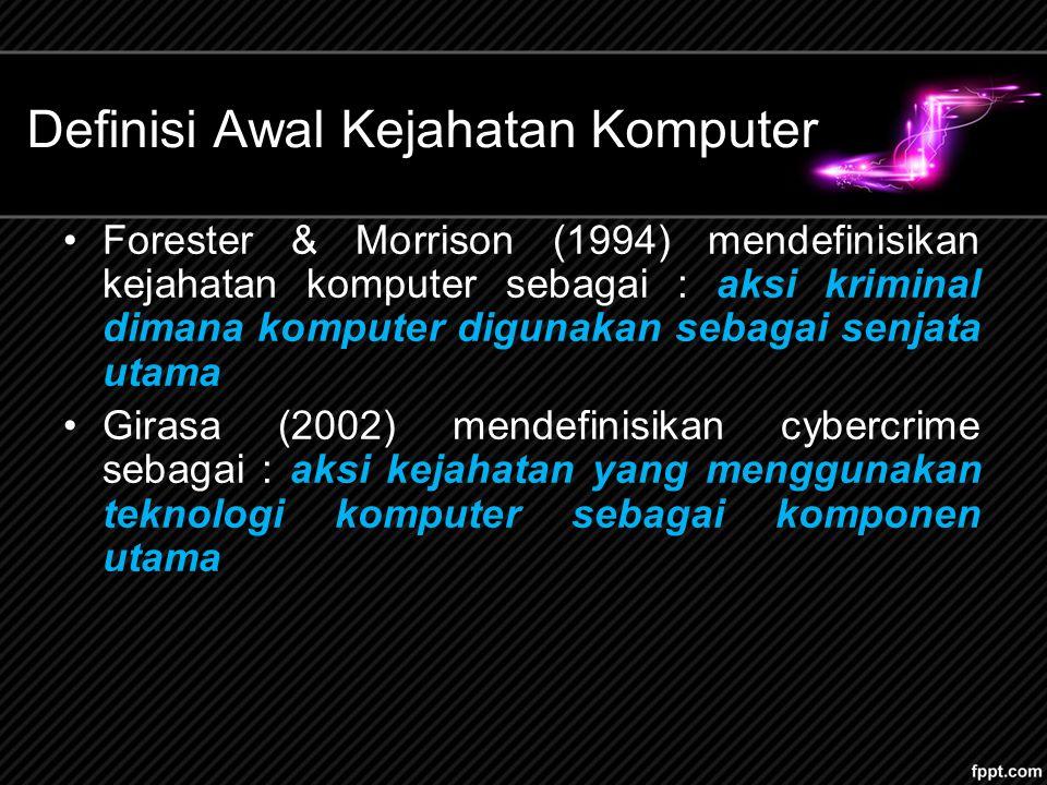 Definisi Awal Kejahatan Komputer