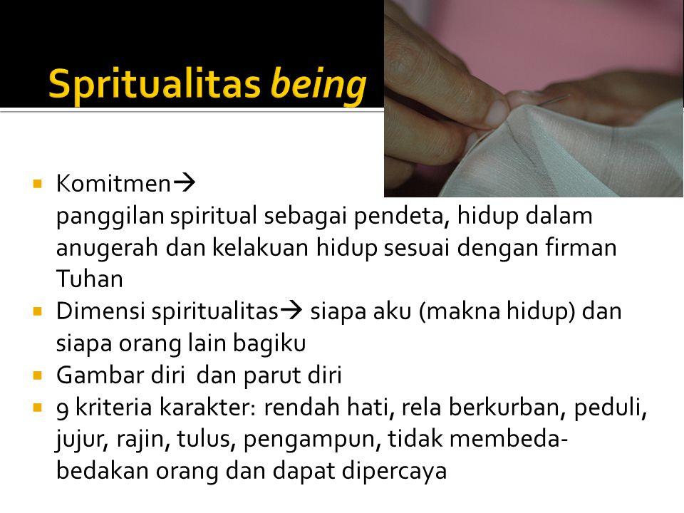 Spritualitas being