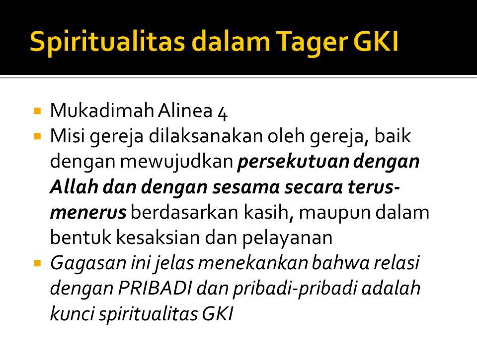 Spiritualitas dalam Tager GKI