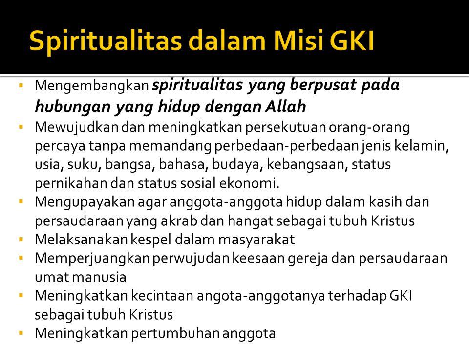 Spiritualitas dalam Misi GKI