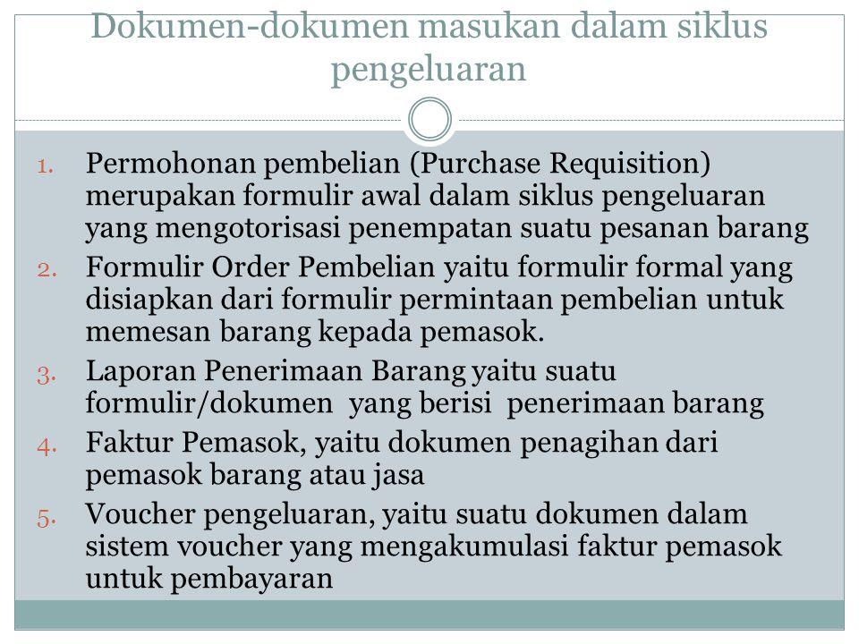 Dokumen-dokumen masukan dalam siklus pengeluaran