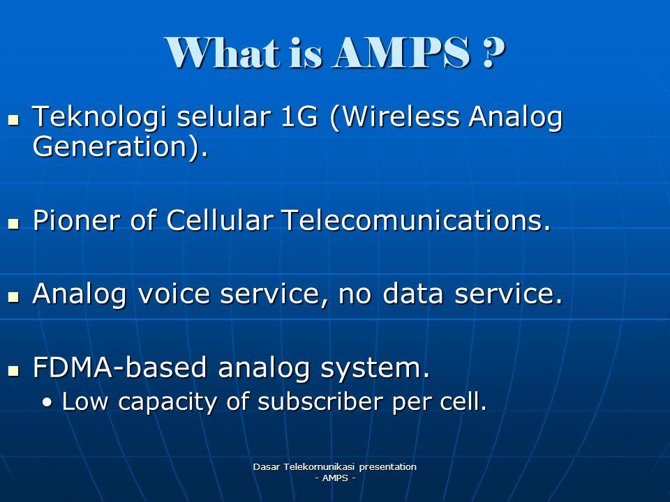 Dasar Telekomunikasi presentation - AMPS -