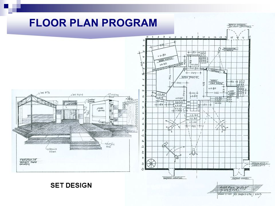 FLOOR PLAN PROGRAM SET DESIGN