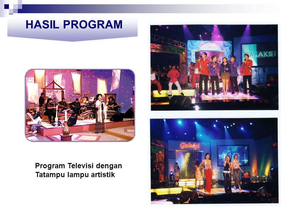 HASIL PROGRAM Program Televisi dengan Tatampu lampu artistik