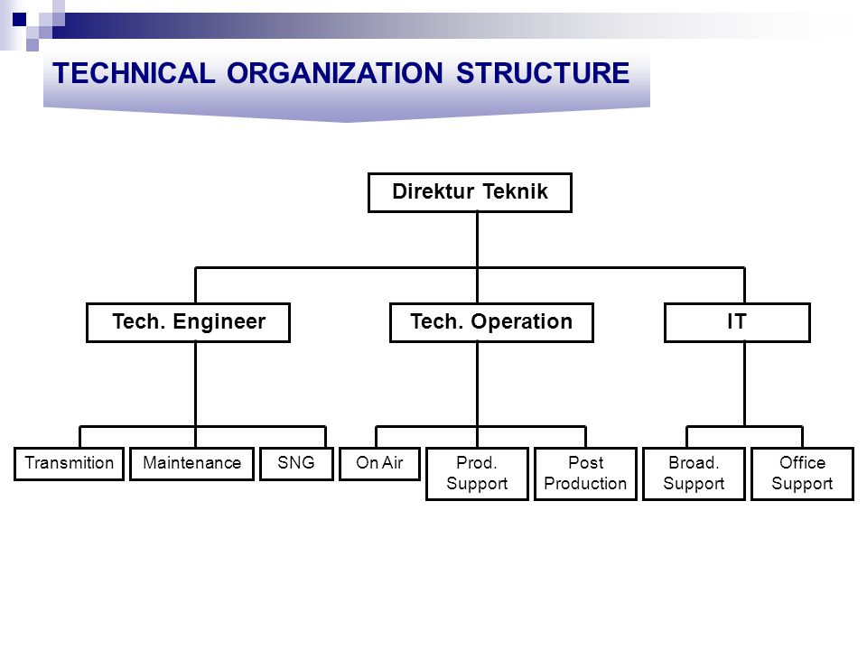 TECHNICAL ORGANIZATION STRUCTURE