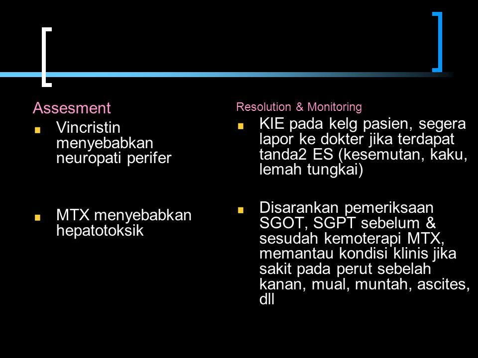 Vincristin menyebabkan neuropati perifer