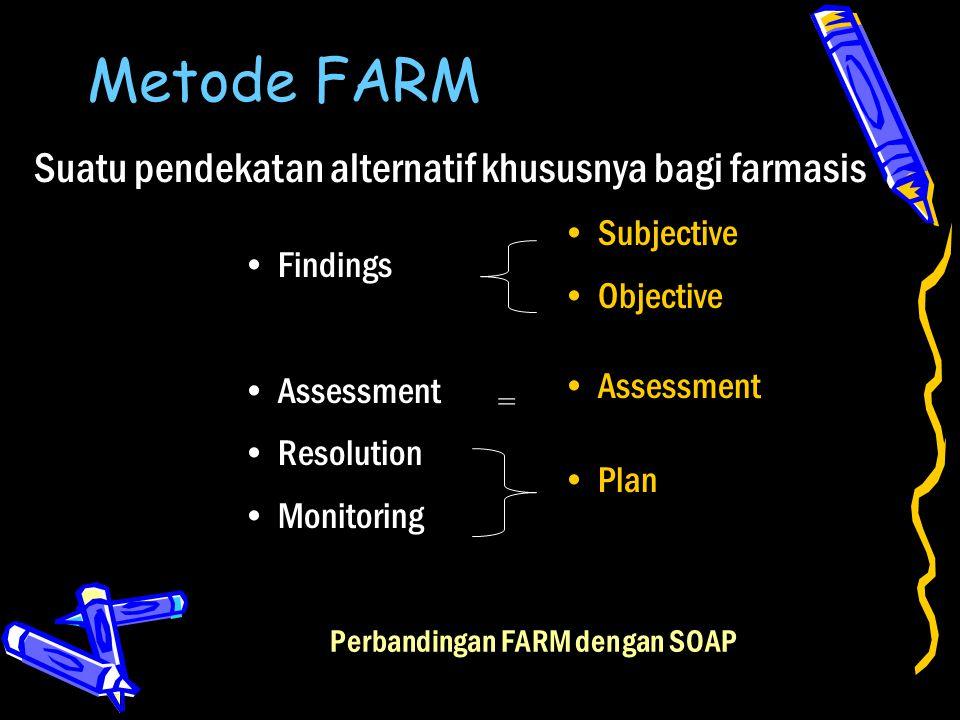 Metode FARM Suatu pendekatan alternatif khususnya bagi farmasis